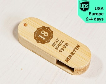 Perfect Since - Personalised USB flash drive, Laser Engraved Pendrive