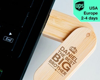 Best Brother - Personalised USB flash drive, Laser Engraved Pendrive