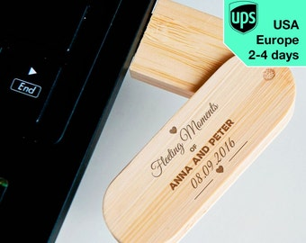 Fleeting Moments - Personalised USB flash drive, Laser Engraved Pendrive