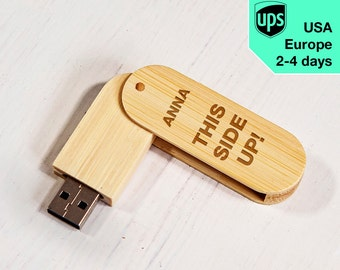 This Side Up - Personalised USB flash drive, Laser Engraved Pendrive