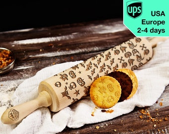 Scary 3 in 1 - Big rolling pin