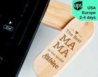 MAMA - Personalised USB flash drive, Laser Engraved Pendrive