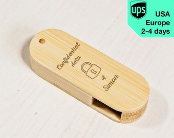 Confidential Data - Personalised USB flash drive, Laser Engraved Pendrive