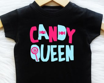 c3520e6a8 ALL SIZES, Customizable Colors Candy Queen gift for girls glitter shirt  rose shirt gift for her womens girls cute tee