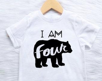 ANY AGE Birthday shirt CUSTOMIZABLE Colors Boys boh bear arrow 1st 2nd 3rd 4th 5th 6th 7th 8th 9th 10th 11th 12th 13th bday wild one boho