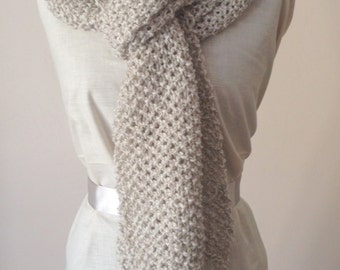 Handknitted  Extra Long Winter Scarf