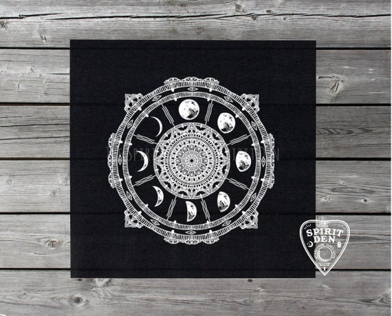 Moon Phases Compass Altar Cloth Tarot Cloth Divination - Etsy Moon Phases Compass Altar Cloth - Tarot Cloth - Divination Tool - Tarot Reading Cloth - Witchcraft - Full Moon - Witch Gift - Tarot Gift - 웹