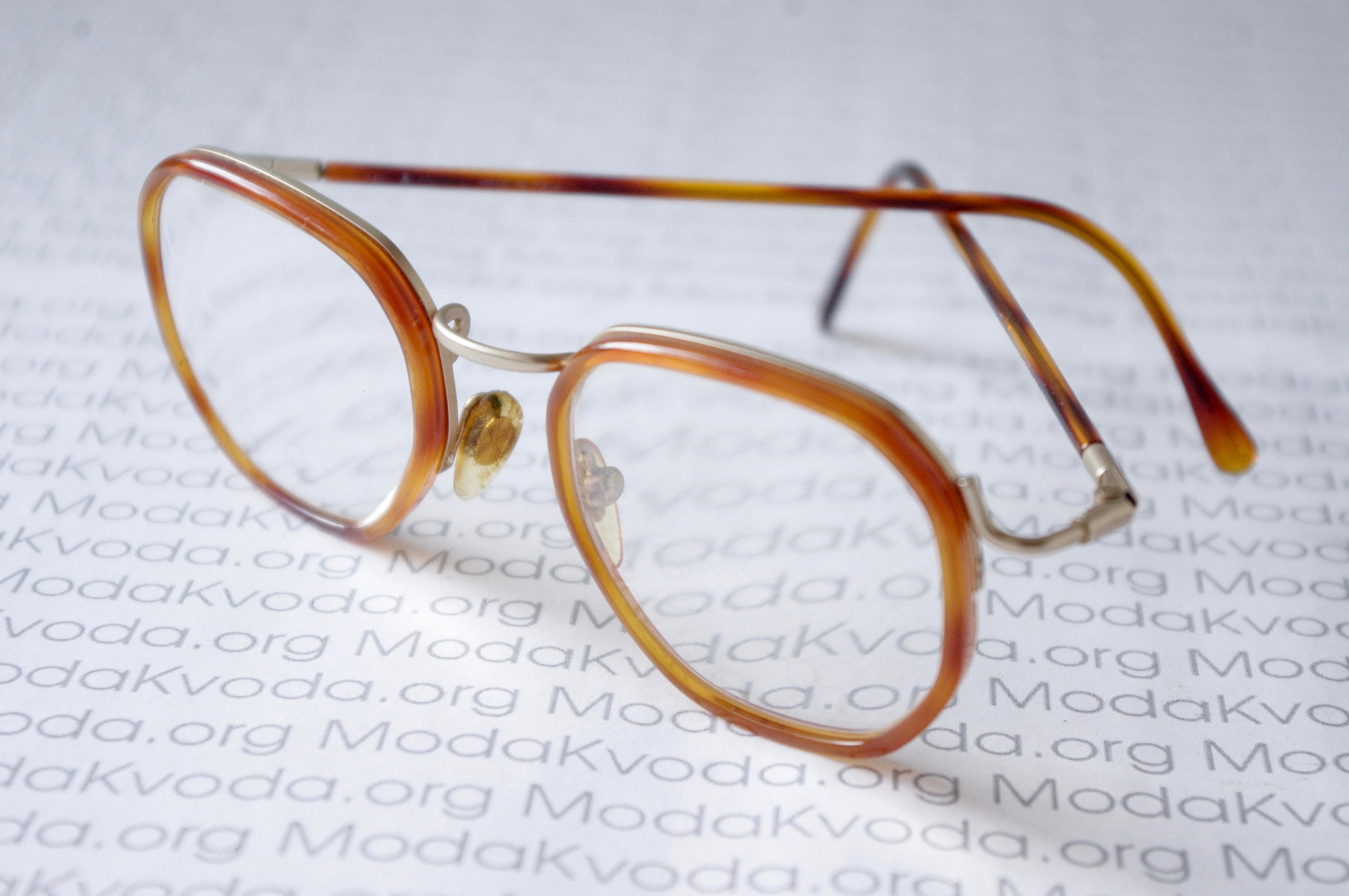 05d63bfd6f5 70s rare double horn rim LANCETTI 4014 frame   Round Unisex