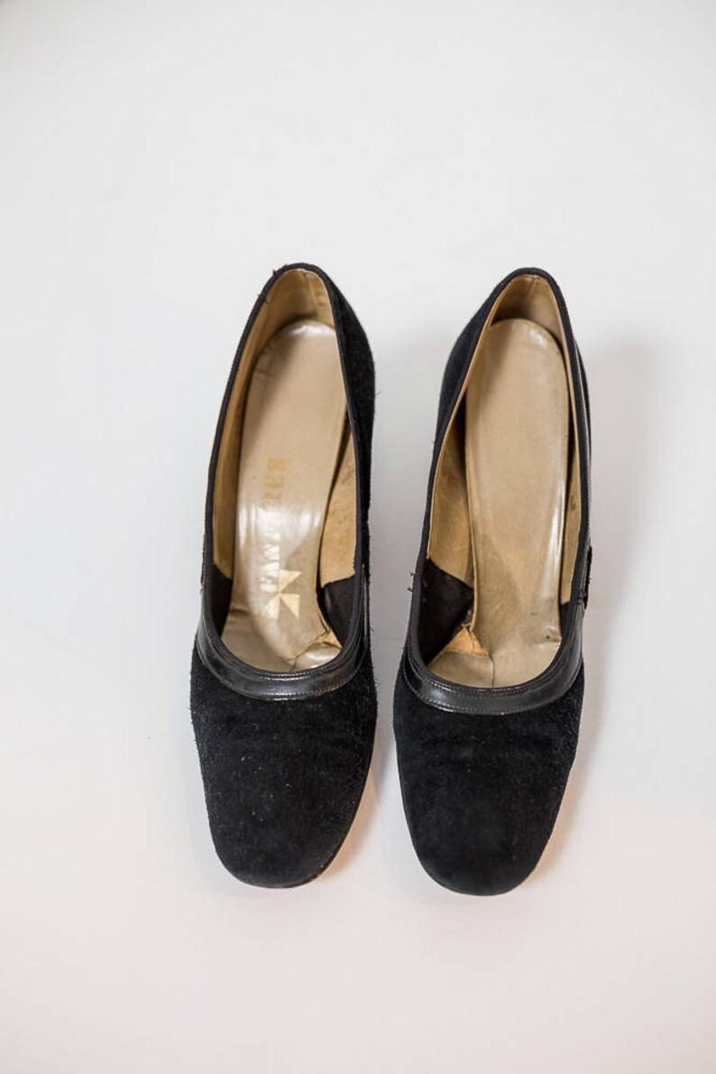 37b1fcbb1a787 Women's Fanfares Black Vintage Heels Size 7 1/2