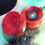 "Bloodwood plugs & eyelets 0g(8mm) - 2.5""(64mm)"