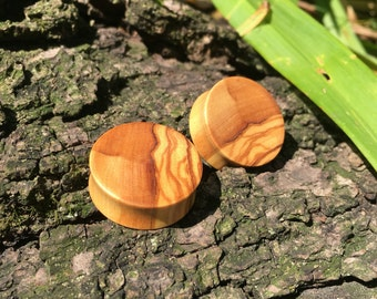 """Olivewood plugs and eyelets 0g(8mm) - 2.5""""(64mm)"""