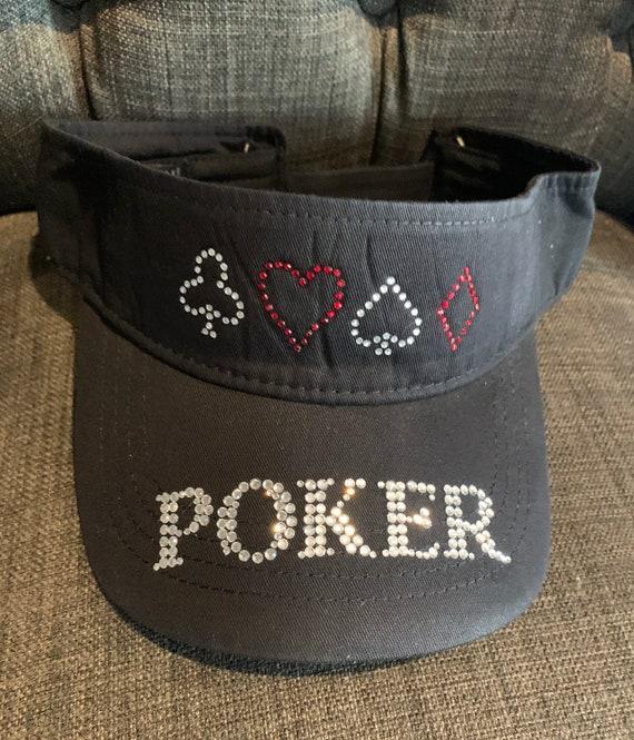 with Name on Brim Custom Poker Visor or Hat