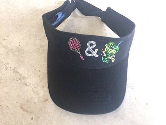 Custom Visors Custom Hats with Rhinestones for Your USTA  d2d9d4db790