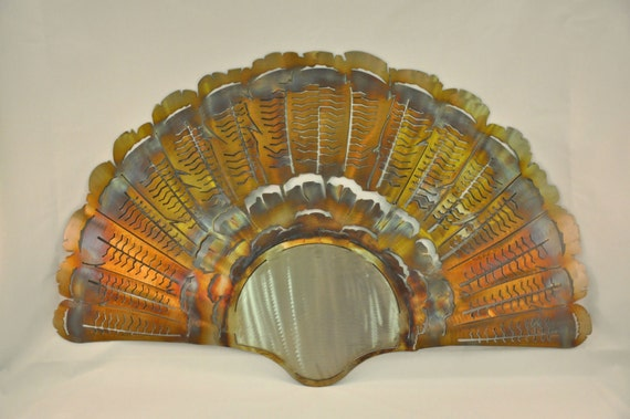 Turkey Fan Metal Art Wall Sculpture in Stainless Steel