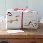 Winter Woodland Christmas Wrapping Paper Sheet with or without a matching tag