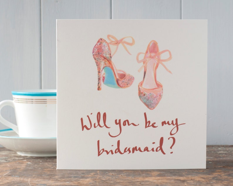 Will you be my bridesmaid card luxury greeting cardhand image 0