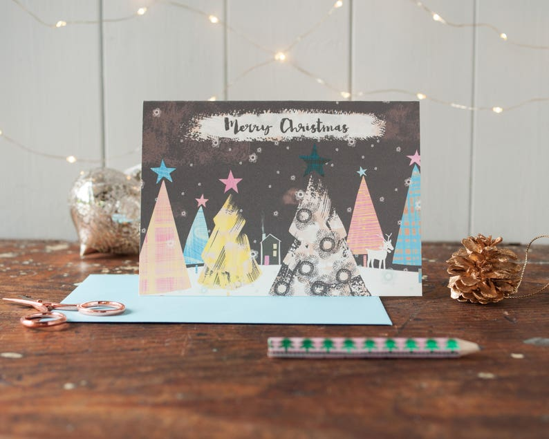 A pack of six Merry Christmas greeting cards for all the image 0