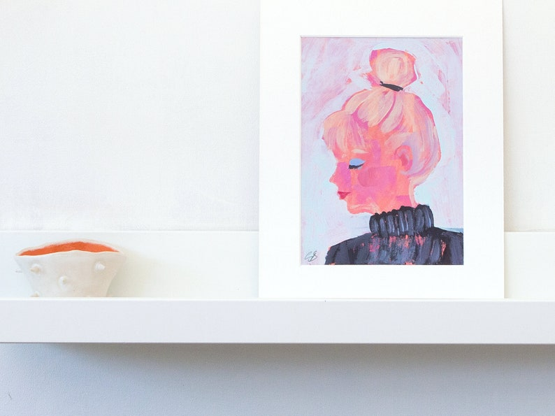 An original acrylic painting of a blonde woman a little like image 0