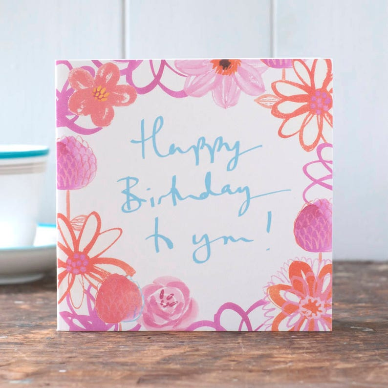 Happy Birthday card for her for a woman beautiful floral image 0