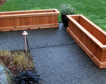 Cedar Planter Box Etsy