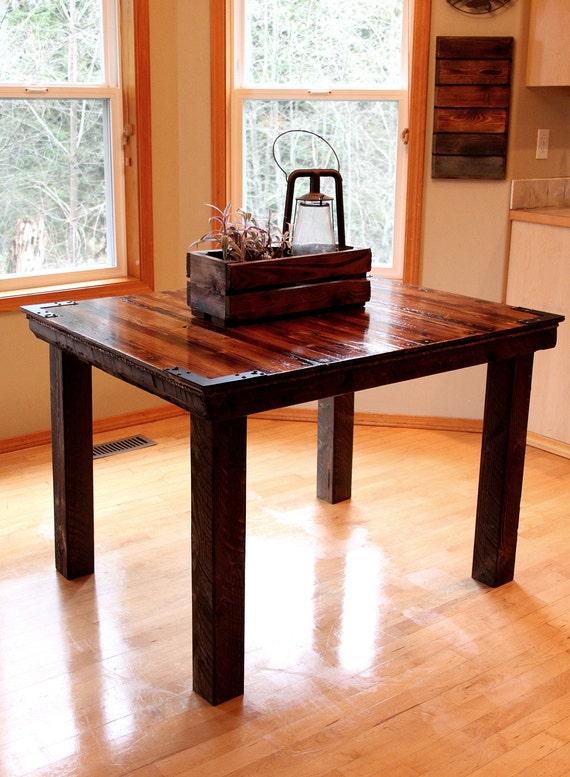 Rustic Barnwood Farmhouse Kitchen Table