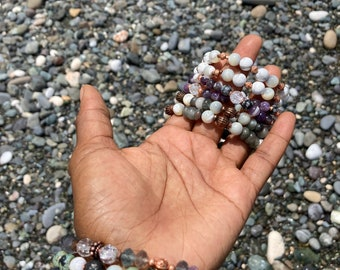 Tiger Eye // Amethyst Crystal & Copper Bracelets
