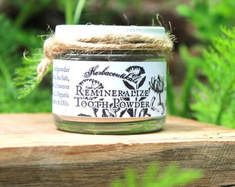 Remineralizing Tooth Powder // OrganicTooth Powder for strong teeth & gums // anti cavity Tooth Powder