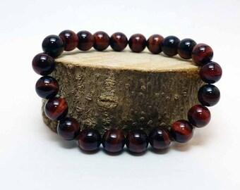 Red Tiger's Eye Stretch Bracelet