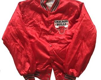ae2cd3bb9c1b Vintage 1980s Chicago Bulls Chalk Line Nylon Jacket Mens Size M L Jordan Era