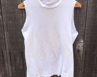 df6cc780ca79ba Vintage 1970s Fruit of the Loom Cut Off Tee Tank Mens Size XS S Grunge