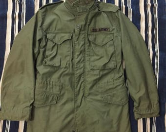 Vintage 1980 M-65 Field Jacket Mens Size Small Medium US Army 42518dcb8c7