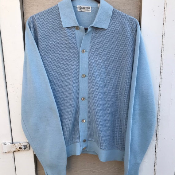 Vintage 1960s Justers Sweater Mens Size Medium 196