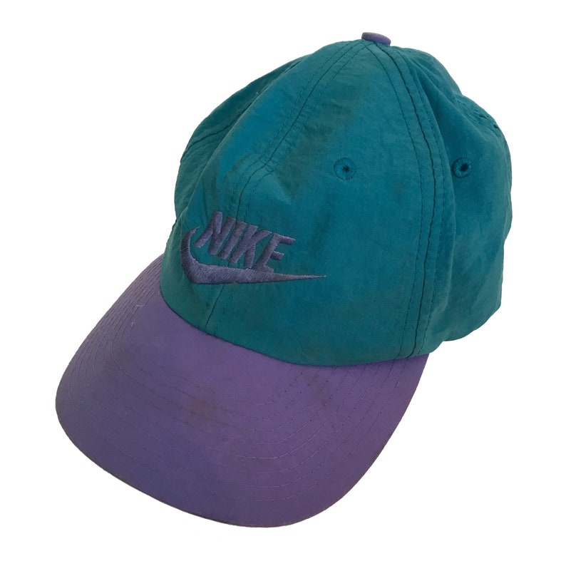 c011d9fde Vintage 1980s Nike Snap Back Hat One Size Fits All Rare Nylon