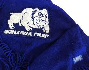 Vintage Pendleton Wool Gonzaga Prep Stadium Blanket 62x50