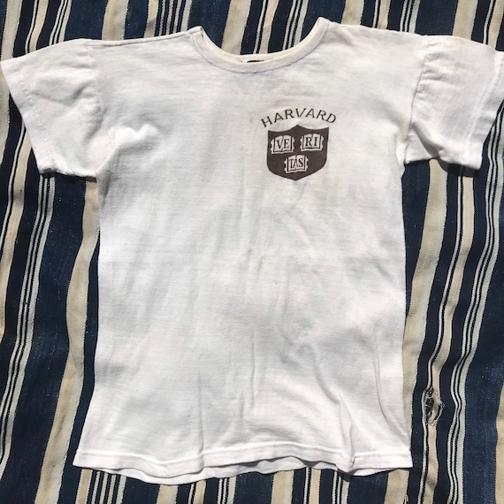 Vintage 1950s Harvard T-Shirt Mens Size XS/S 1950s