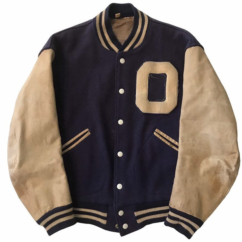 Vintage 1950s Butwin Varsity Letterman Jacket Mens Size Medium
