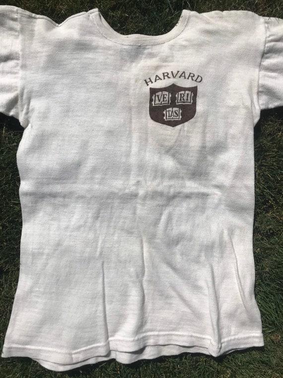 Vintage 1950s Harvard T-Shirt Mens Size XS/S 1950… - image 5