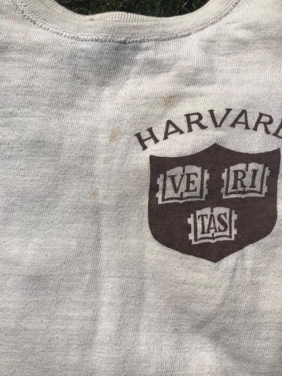 Vintage 1950s Harvard T-Shirt Mens Size XS/S 1950… - image 7