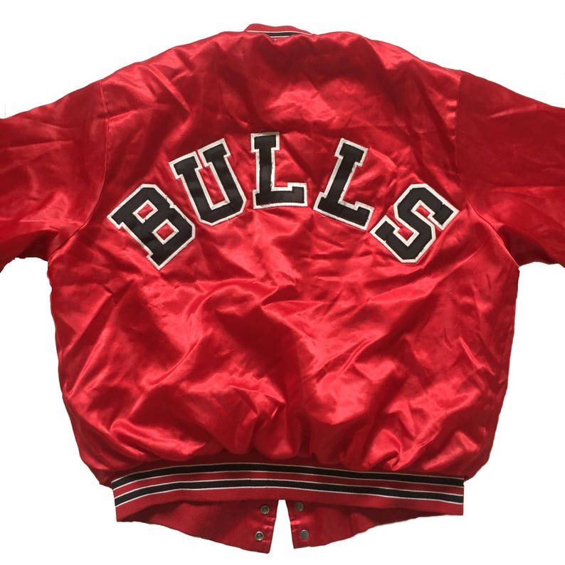 db929f67ee332b Vintage 1980s Chicago Bulls Chalk Line Nylon Jacket Mens Size