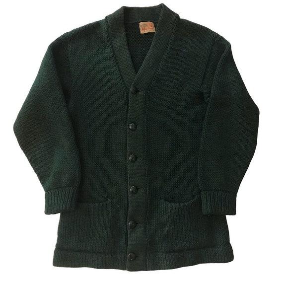 Vintage 1940s-50s Indian Brand Wool Varsity Sweate