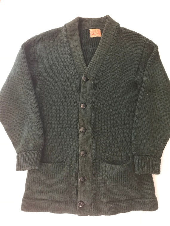Vintage 1940s-50s Indian Brand Wool Varsity Sweat… - image 3