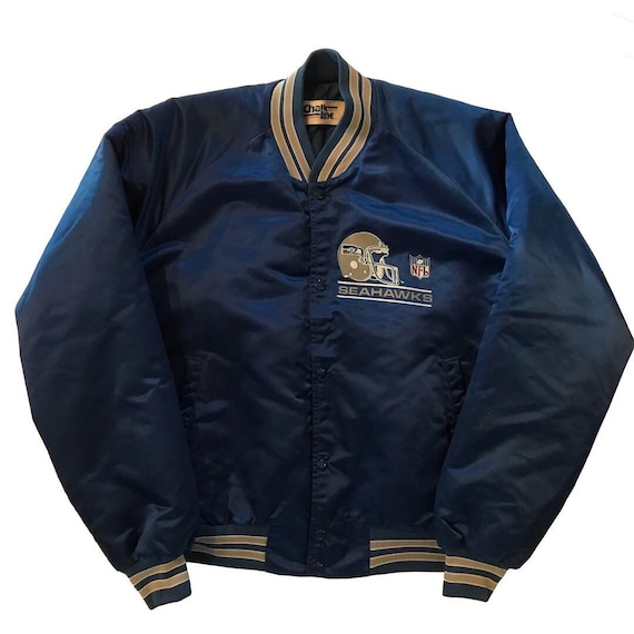 52b5549d59de62 Vintage 1980s Seattle Seahawks Chalkline Nylon Jacket Mens