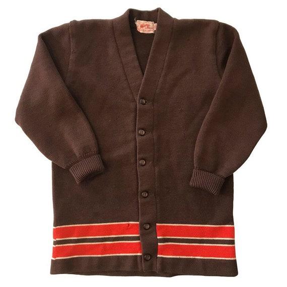Vintage 1940s-50s Albion Wool Cardigan Sweater Men