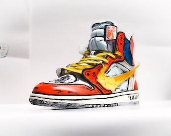 eed4015b13c Goku Off-White Jordan 1 inspired custom