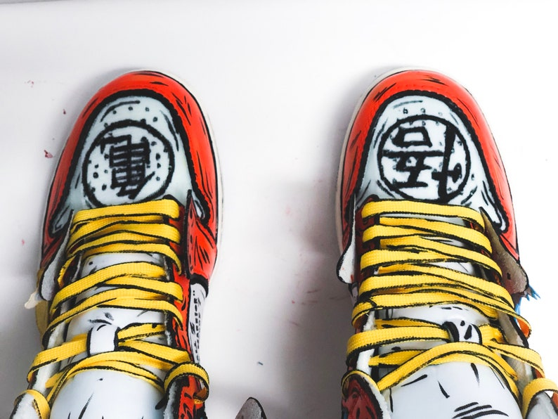 6d6869f3fd4f Goku Off-White Jordan 1 inspired custom