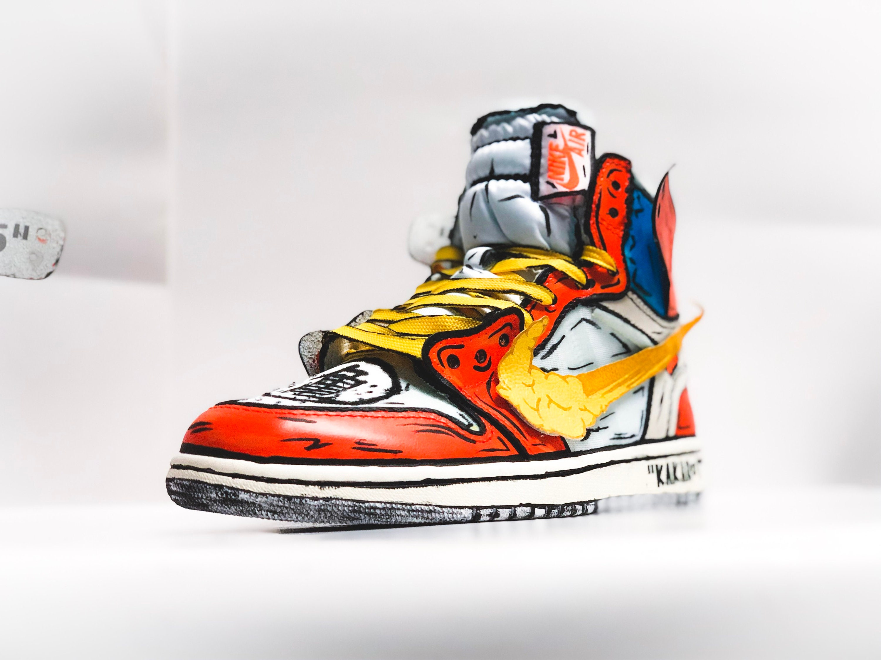 cheap for discount 1e7bd ad6c7 Goku Off-White Jordan 1 inspired custom