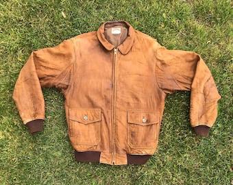 8388a01e5 Leather bomber jacket | Etsy