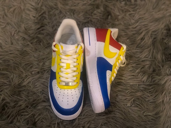 air force 1 jaune bleu