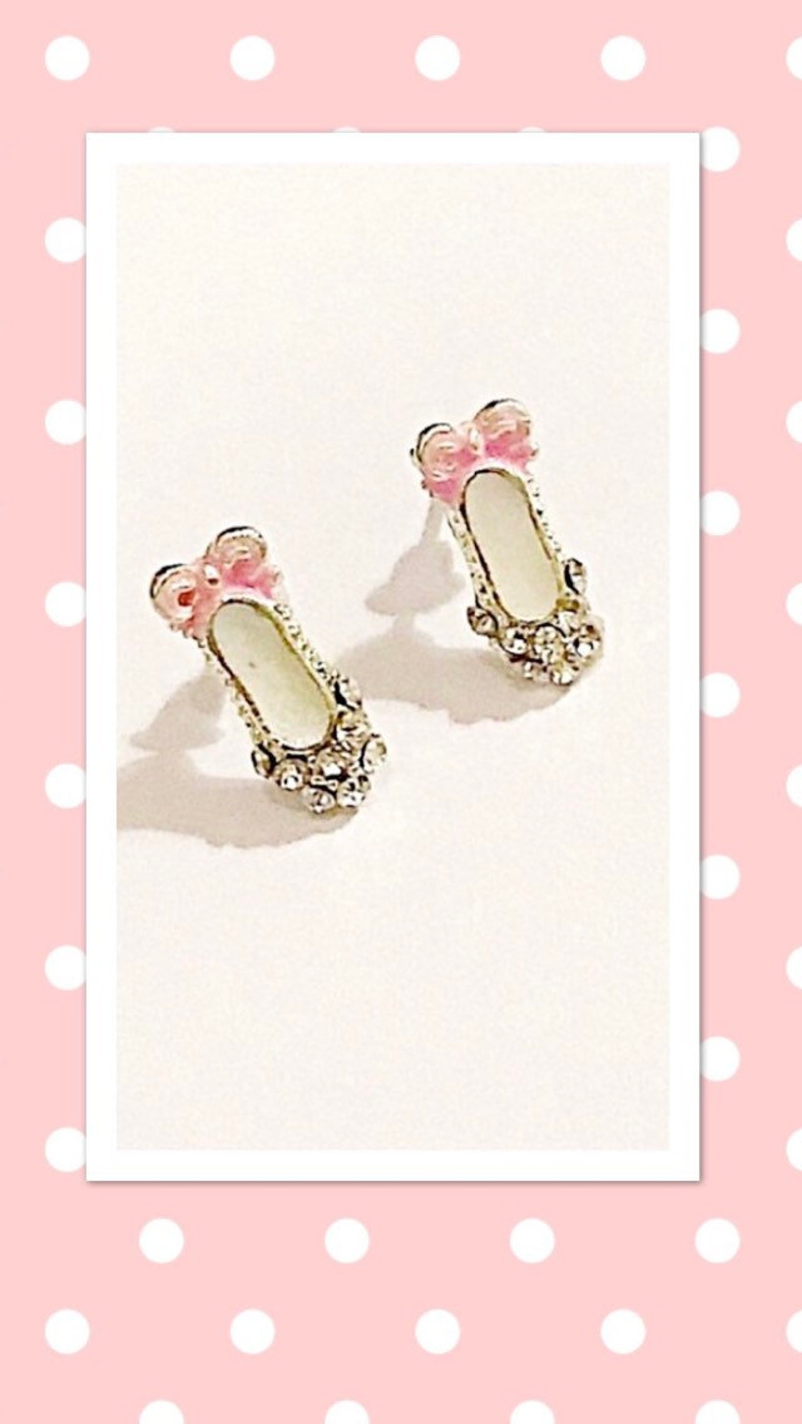 crystal ballet shoes stud earrings