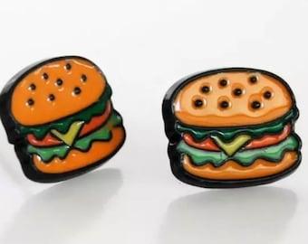Cheeseburger Stud Earrings